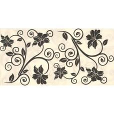 BAHAR Duvar Siyah Dekor 25x50
